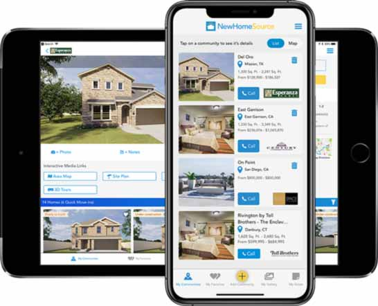 New Home Source App on iPhone and iPad