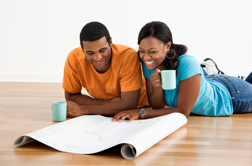 Couple with Floorplan