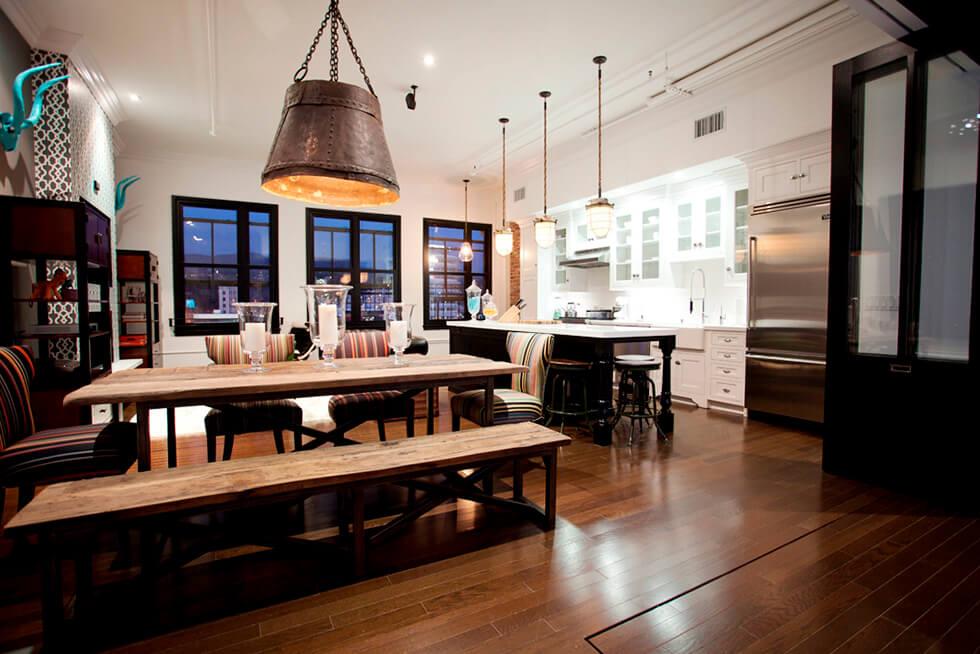 industrial interior in great room