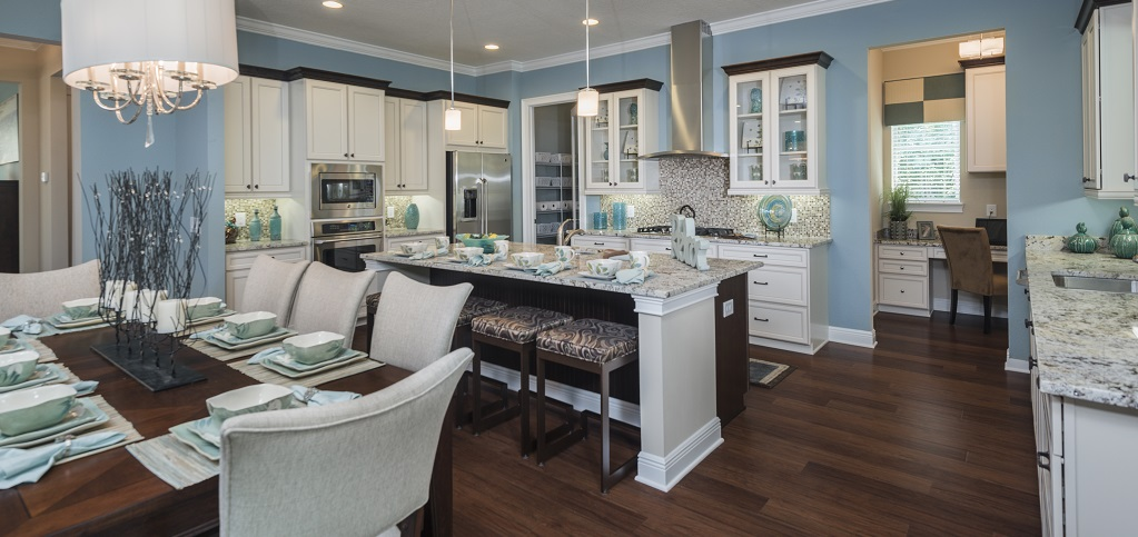 Home of the week carrington plan by greenpointe homes for Elegant residences kitchens