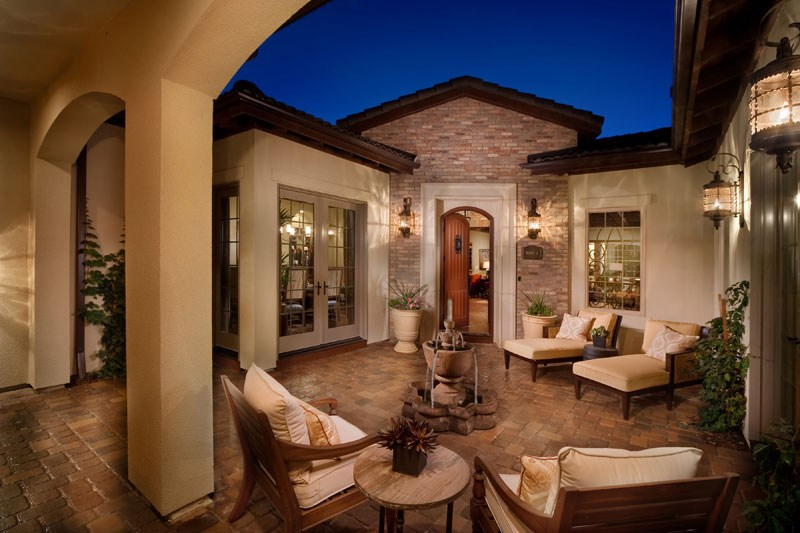 Tuscan style house plans with courtyard for Tuscan interior designs