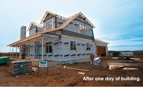 Wausau Homes After One Day of Building