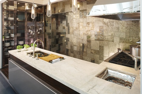 Kohler Design Center Crystal Clear kitchen vignette. Whats New in Kitchen and Bath Trends A Visit to the Kohler Design