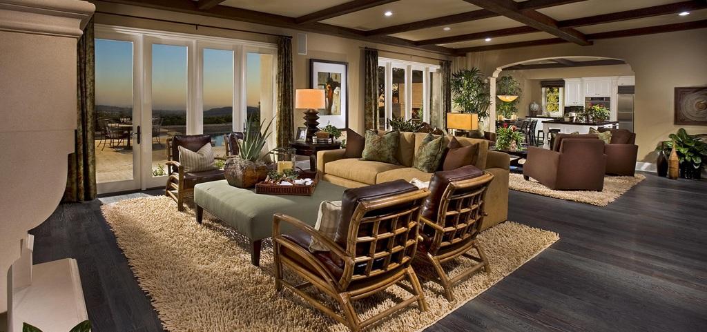 Inside model homes