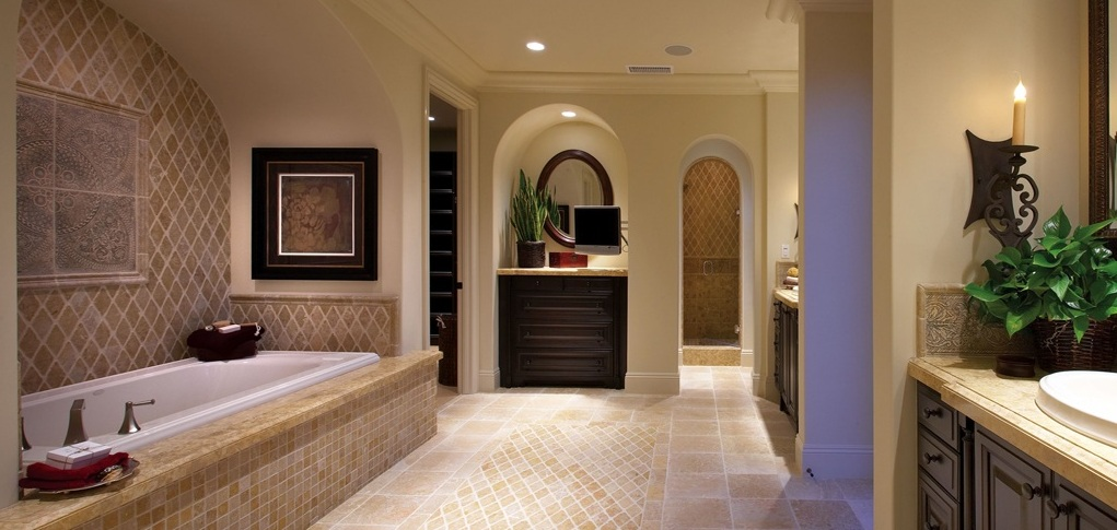 After you ve met with a builder s onsite sales staff you for Model home bathroom photos