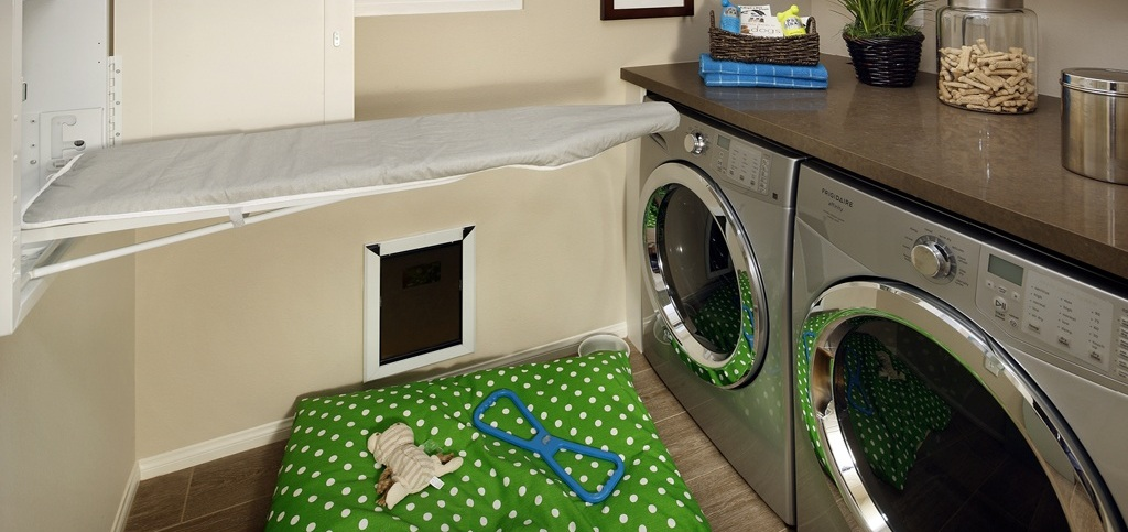 model home laundry room
